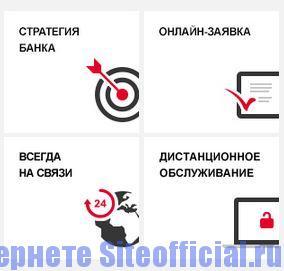 Официальный сайт Росбанк - Вкладки