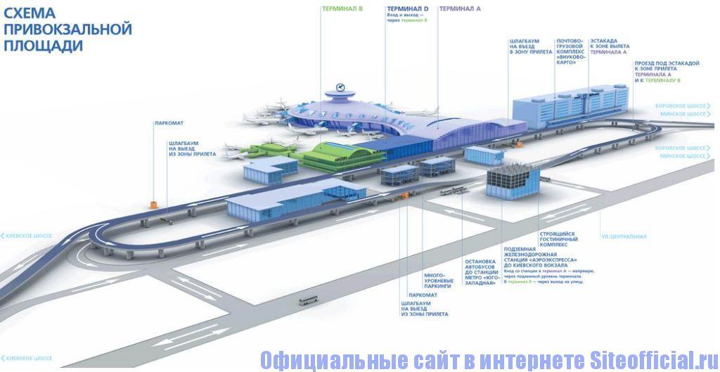 Официальный сайт аэропорта Внуково - Схема аэропорта