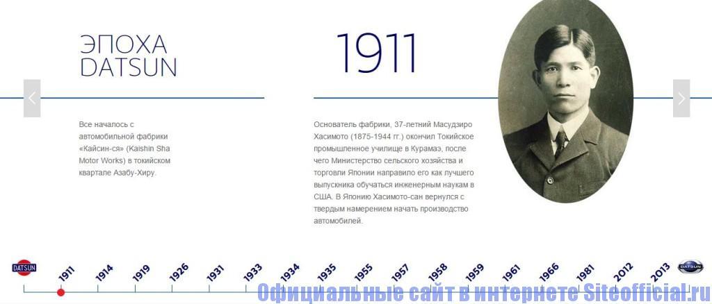 """Официальный сайт Датсун - Вкладка """"О бренде"""""""