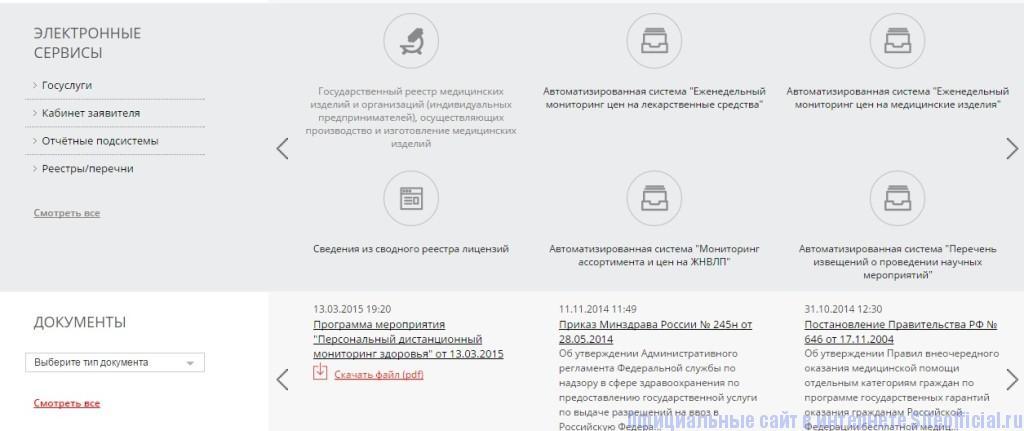 Росздравнадзор официальный сайт - Полезная информация
