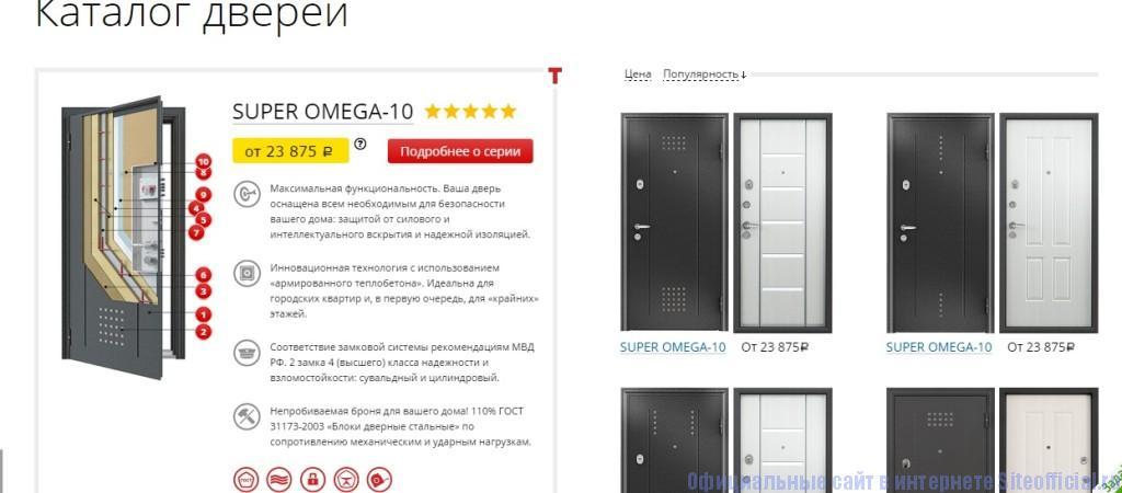 Двери Торекс официальный сайт - Каталог
