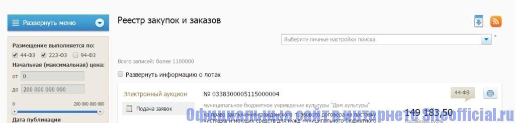 Закупки ГО ВРУ официальный сайт - Реестр закупок и заказов