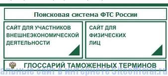 Таможня официальный сайт - Рубрики