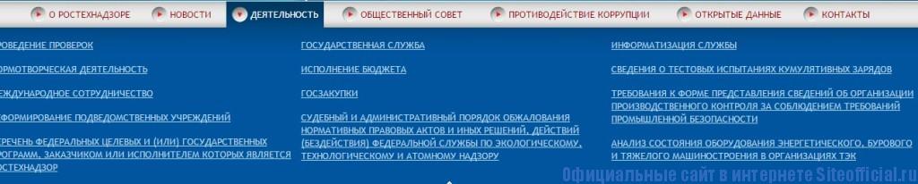 Ростехнадзор официальный сайт - Деятельность