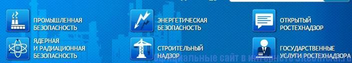 Ростехнадзор официальный сайт - Основные разделы