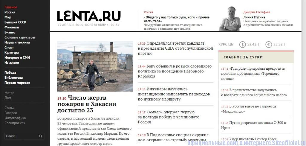 Лента.ру - Главная страница