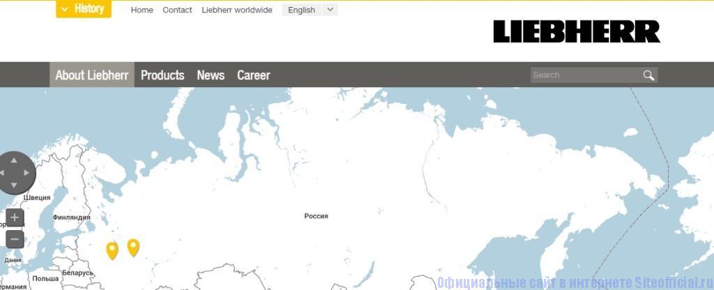 Либхер официальный сайт - Выбор языка
