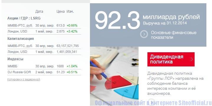 Официальный сайт Группа ЛСР - Информация инвесторам и акционерам