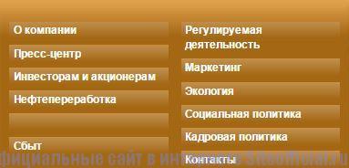 Сургутнефтегаз официальный сайт - Вкладки