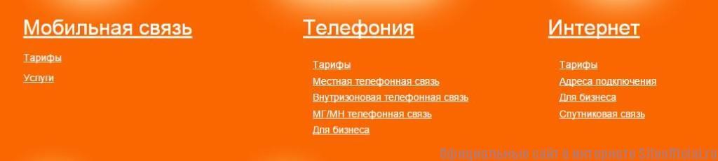 Мотив официальный сайт - Вкладки
