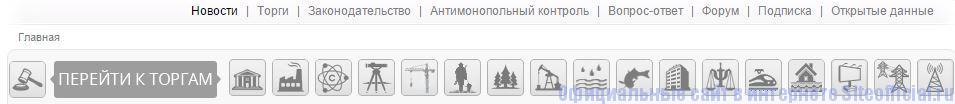 Торги Гов ру официальный сайт - Вкладки