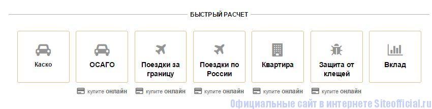 Росгосстрах официальный сайт - Вкладки