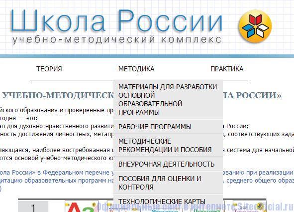 Школа России официальный сайт - Вкладки
