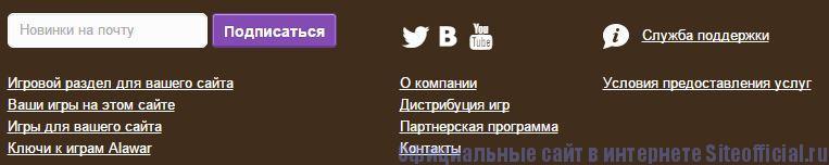 Алавар - Вкладки