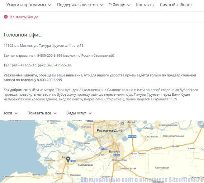 """НПФ Лукойл Гарант официальный сайт - Вкладка """"Контакты"""""""