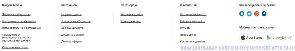 Викимарт - Вкладки