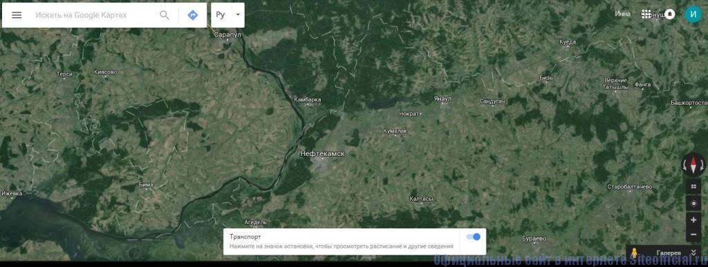 Гугл Карты - Спутниковый снимок