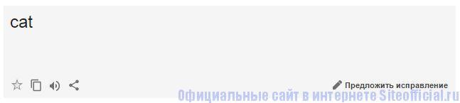 Гугл Переводчик - Окно перевода