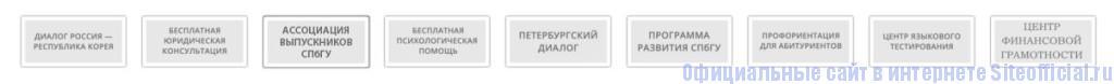 СПбГУ официальный сайт - Вкладки
