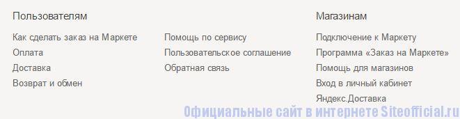 Яндекс.Маркет - Вкладки