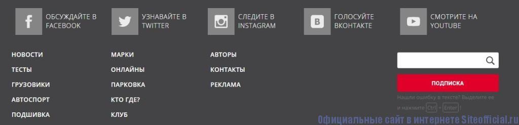 Авторевю журнал - Вкладки