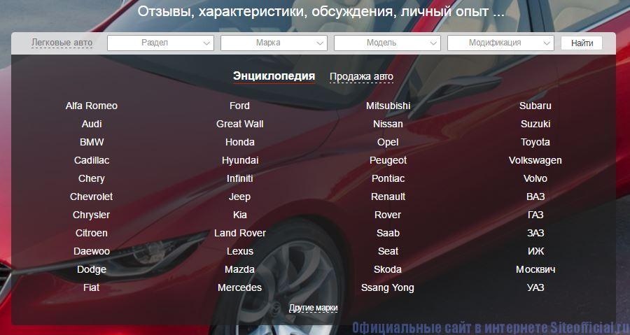 Автомаркет - Вкладки