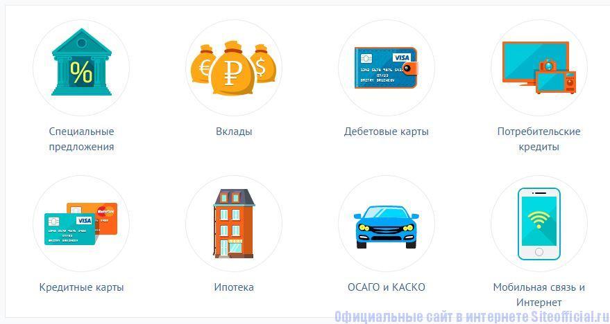Банки.ру - Вкладки