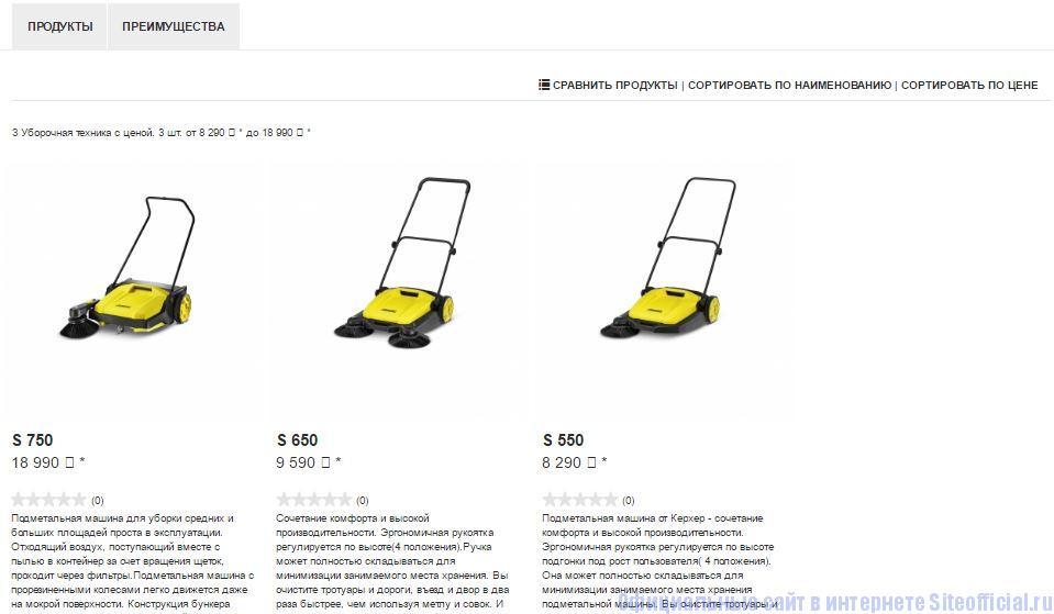 Керхер официальный сайт цены - Вкладки