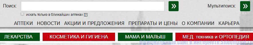 Столичка официальный сайт - Вкладки