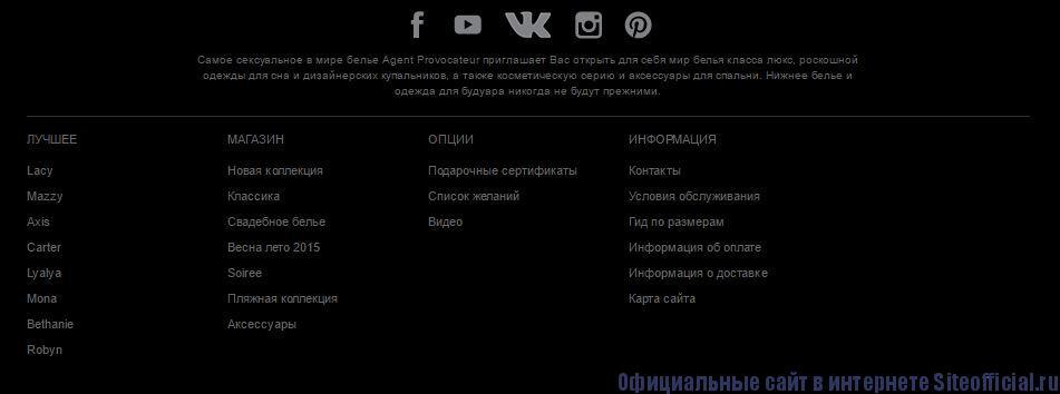 Официальный сайт Агент Провокатор - Вкладки