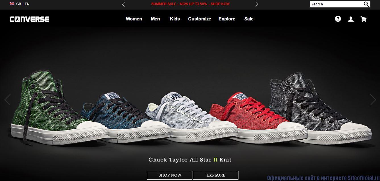 Официальный сайт Converse - Главная страница