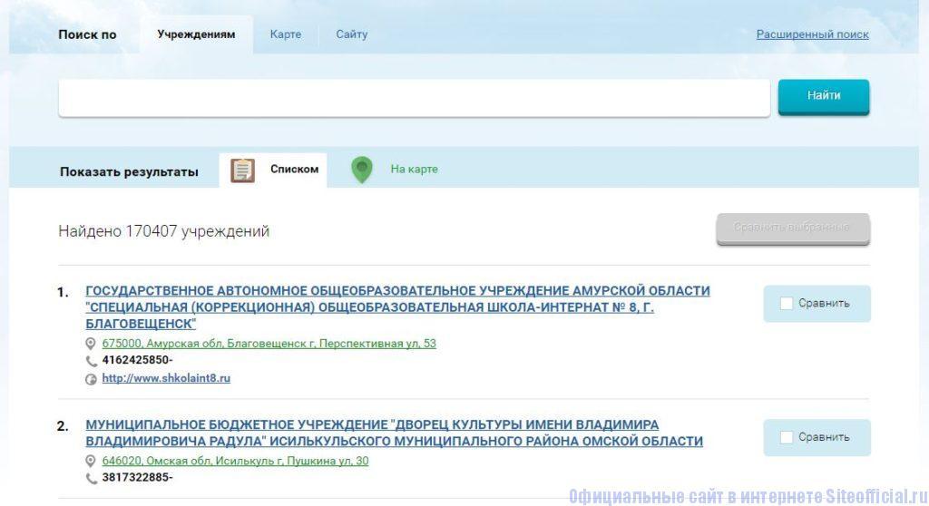 Бус гов ру официальный сайт - Поиск по учреждениям