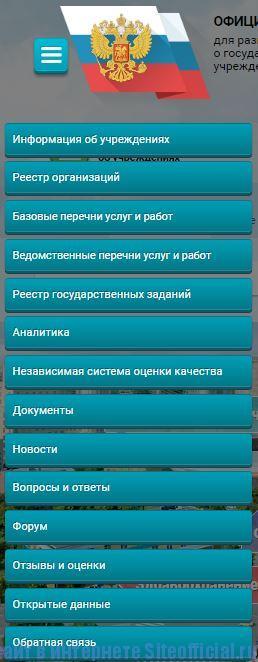 Бус гов ру официальный сайт - Вкладки