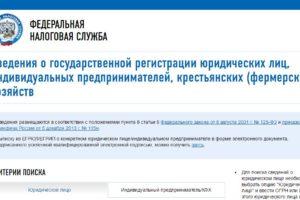 Главная страница официального сайта Егрюл.налог.ру