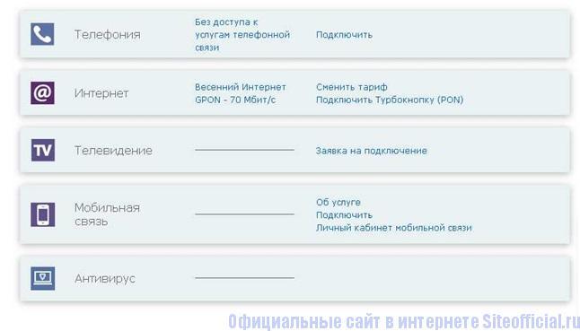 Оплата за услуги оператора связи МГТС