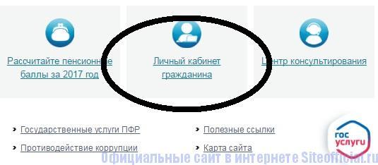 Личный кабинет на официальном сайте Пенсионный фонд России