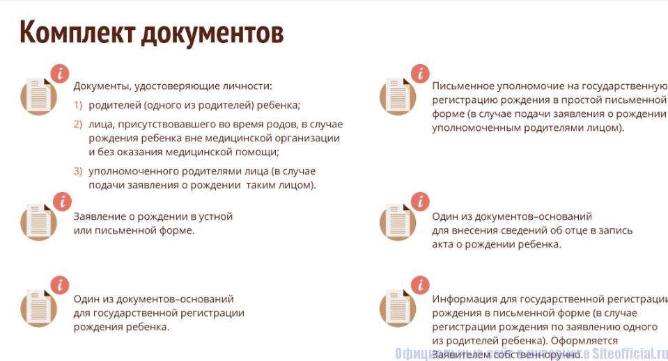 Документы для получения услуги в МФЦ  Москвы