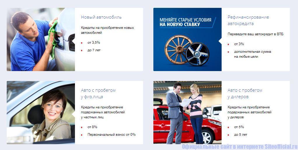 Кредиты на покупку автомобиля от ВТБ 24