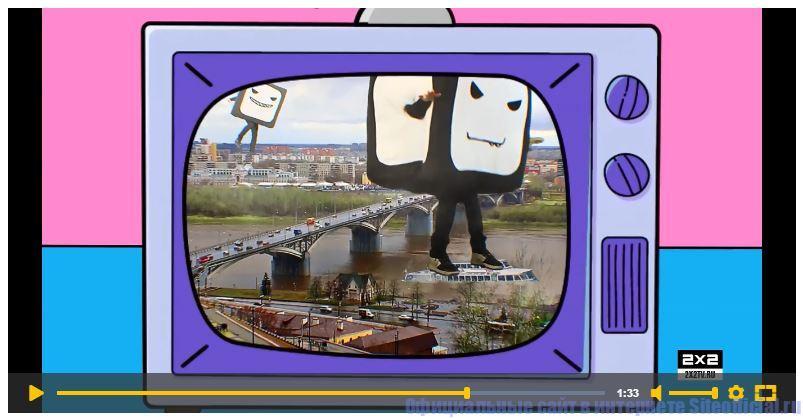 Видео о телеканале 2х2 на официальном сайте