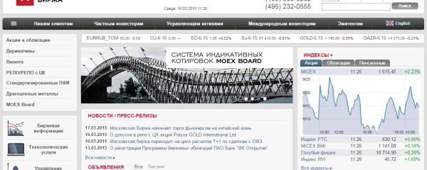ММВБ официальный сайт - Главная страница