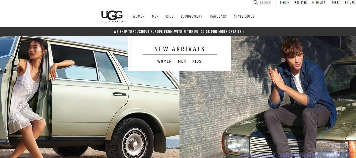 UGG официальный сайт - Главная страница